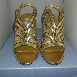 Prada Baroque Motif Sandals Size 8.5
